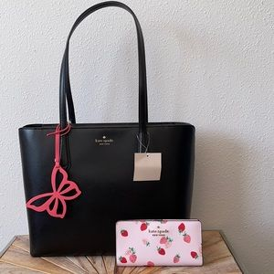Kate Spade Tote Purse And Strawberry Wallet Set